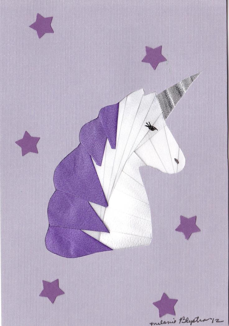 Iris folding Unicorn