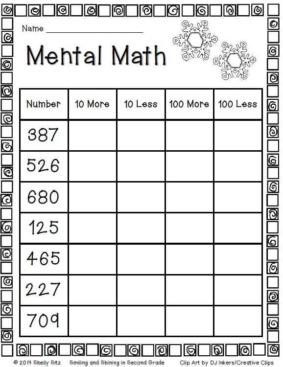 100 ideas to try about 2nd Grade Math – Mental Math Worksheets Grade 8