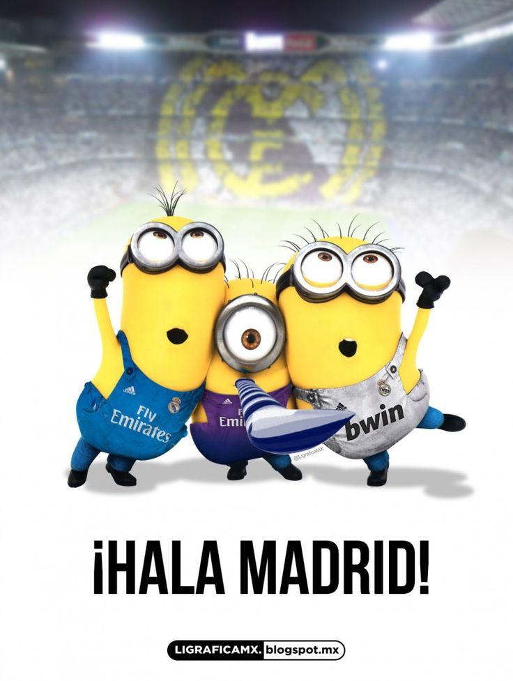 Minions hinchas del Real Madrid.