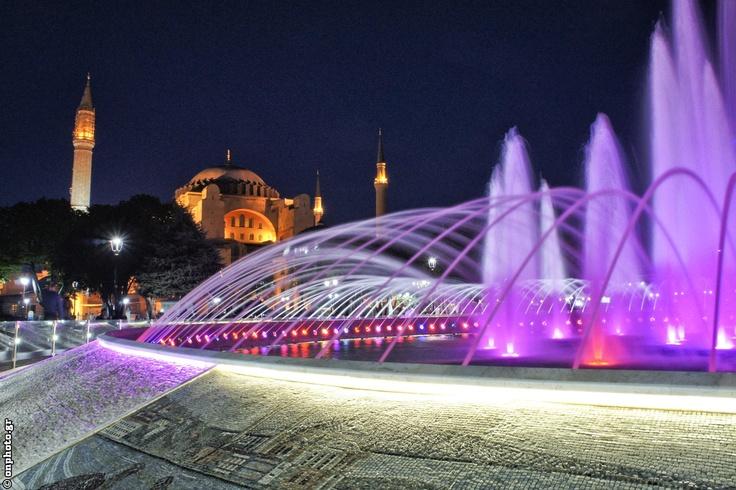 Hagia Sofia and the fountain...