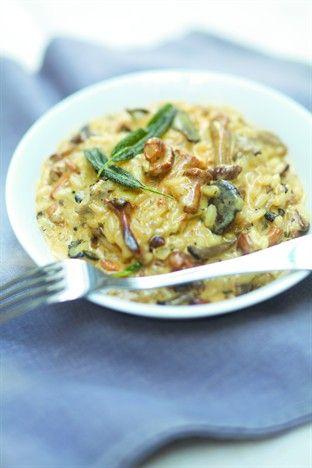 Risotto crémeux aux champignons sauvages - Larousse Cuisine