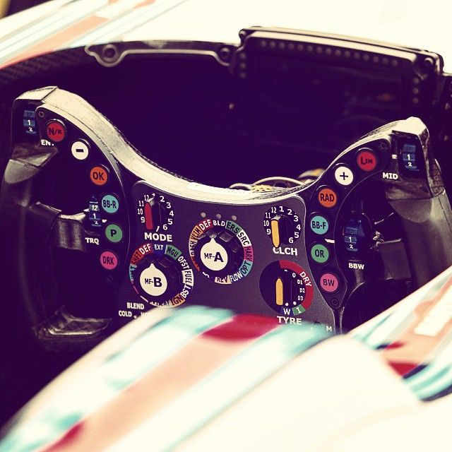 Switches, buttons and dials #f1 #Formula1 #AustrianGP #tech