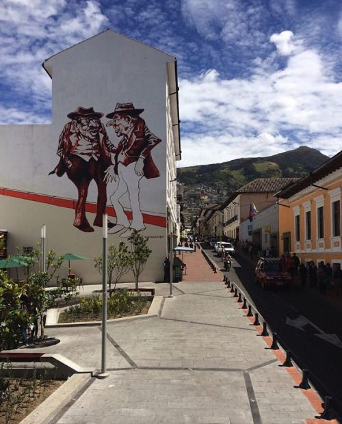 It's not Valparaiso, but there's some cool street art in Quito too! #Ecuador #Quito #StreetArt #RTW #JulesVernex2 More on our stay in Ecuador on our travel blog julesvernex2.wordpress.com