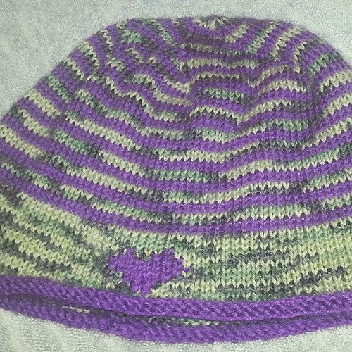Ravelry: AnniePenny79's January - Share the Love Beanie - blocking
