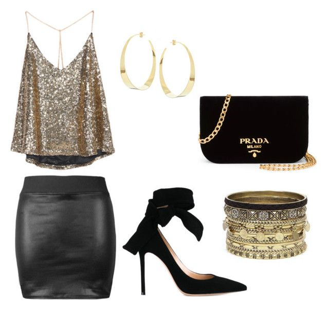 """""""Date/Night Out Megan"""" by janaekeyesauthor on Polyvore featuring Gianvito Rossi, Lana, Daytrip and Prada"""