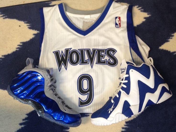 Eric submitted this photo of a Ricky Rubio jersey and some awesome basketball kicks!