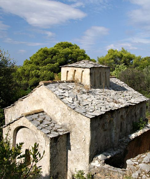 The remains of the old Croatian culture / pre-Romanesque chapel / St. Nikola 9th - 10th.century / Lopud, Croatia #croatia #preromanesque