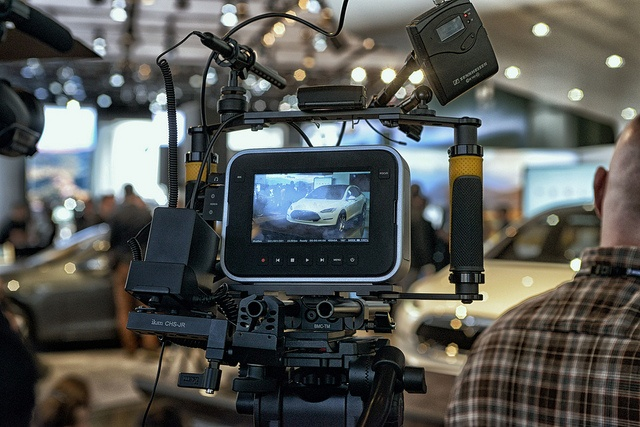 The Black Magic Cinema Camera setup by Guy Cochran for Tesla, via Flickr. #detroitautoshow #naias