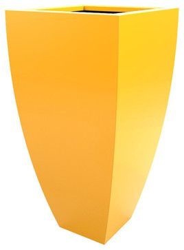 Corby Planter, Yellow - contemporary - Outdoor Pots And Planters - Decorpro