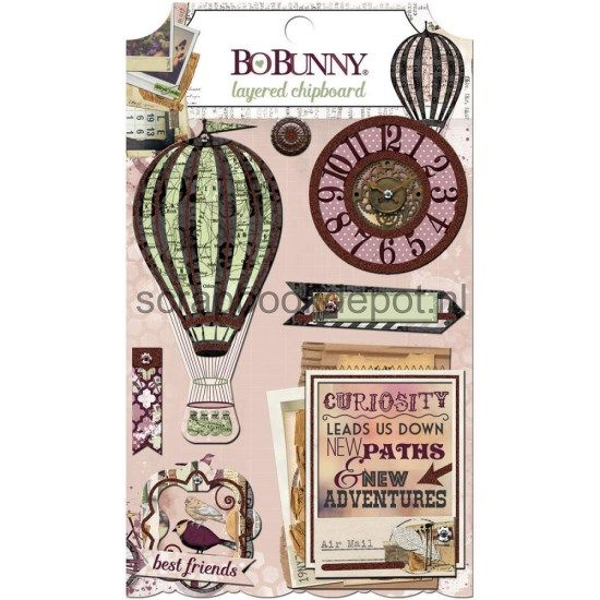 BoBunny Beautiful Dreamer - Layered Chipboard
