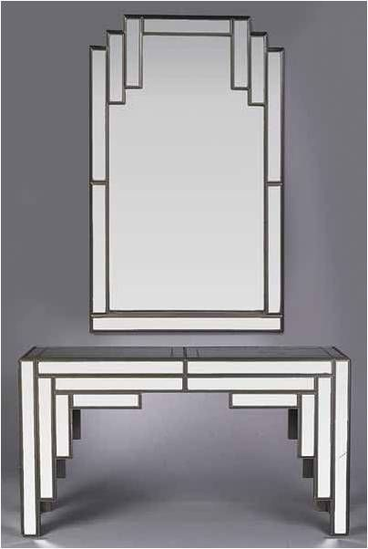 Love This Mirror And Console Art Deco BathroomBathroom