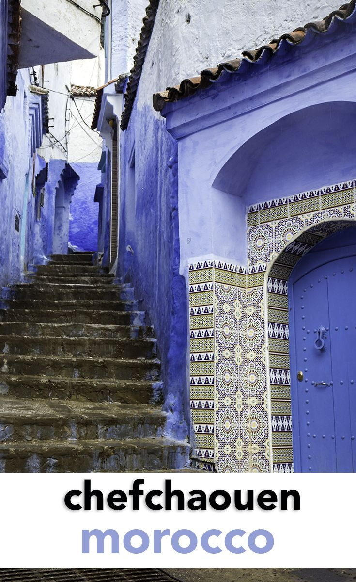 Best Blue Cities Images On Pinterest Morocco Doors And - Old town morocco entirely blue