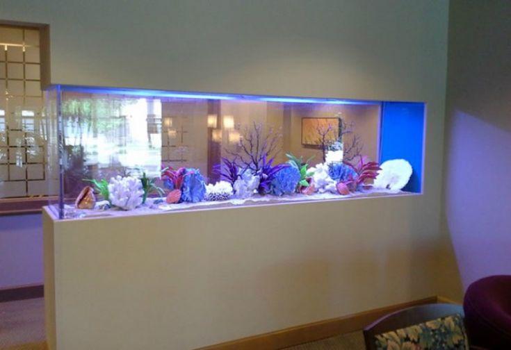 aquarium encastrable sur mesure pour sublimer la salle à manger