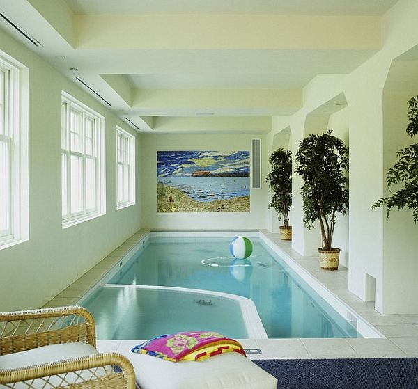 Indoor spa and pool create a more soothing setting
