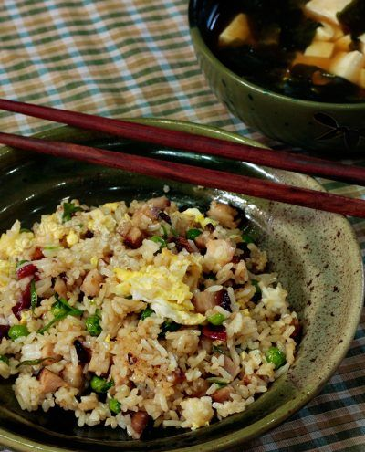 Yang Chow fried rice and all similar fried rice dishes are considered peasant food made with scraps of leftovers, vegetables and basic seasonings.