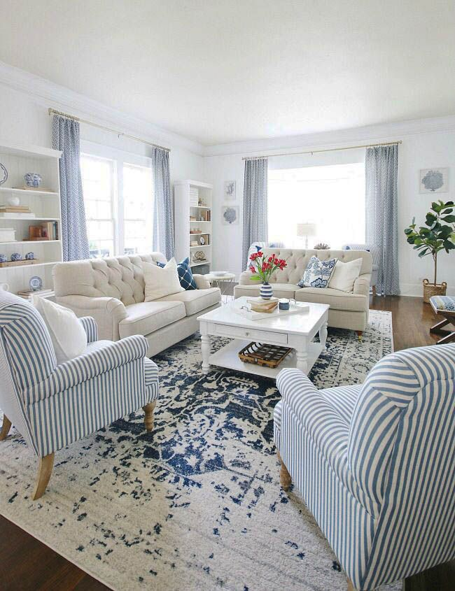 Staying Space Designing Tips You Ll Want To Steal Asap Zeltahome Com Country Living Room Design Blue Living Room Farm House Living Room