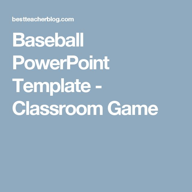 Baseball Powerpoint Template  Classroom Game  Projects To Try