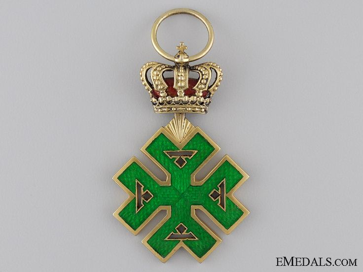 A Rare Romanian Order of Ferdinand I; Officers Cross | eMedals