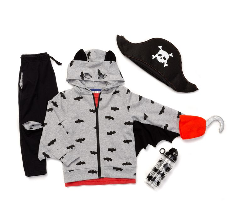 We are too cute to SPOOK this Halloween! Shop our Halloween Outfits including the Pirate Bat by clicking the image! #halloween #toocutetospook #cottononkids