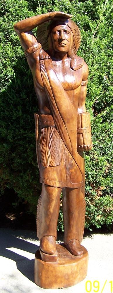 Cigar Store wood indian 6 ft tall not antique #72sa919