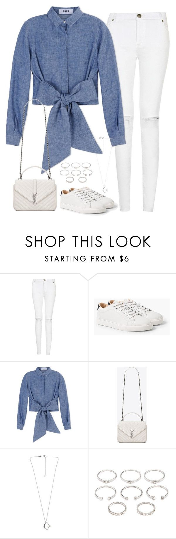 """Untitled#4297"" by fashionnfacts ❤ liked on Polyvore featuring MANGO, MSGM, Yves Saint Laurent and Forever 21"