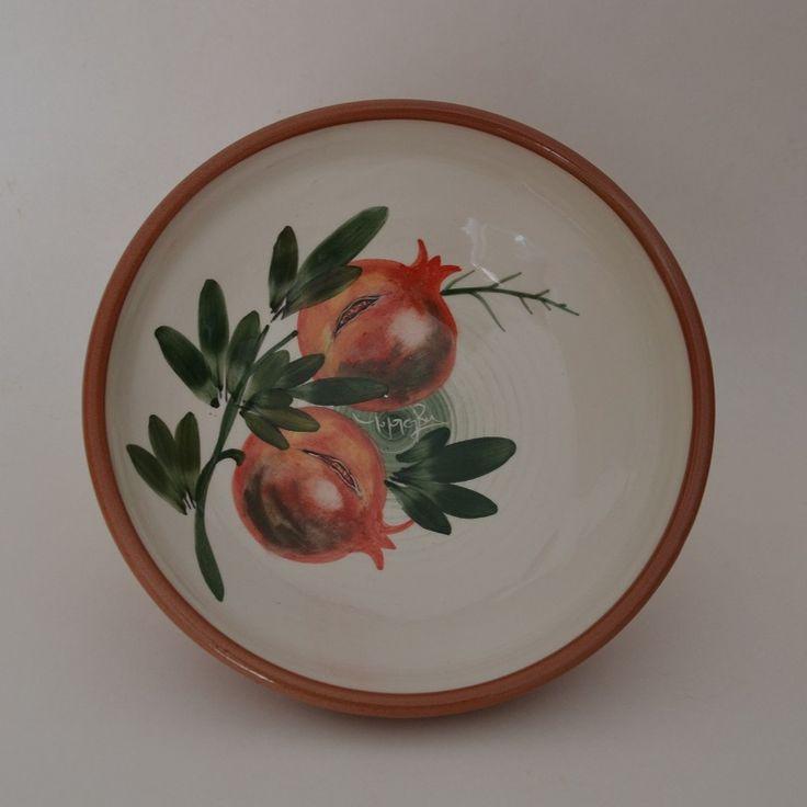 Ceramic Handmade Salad Bowl 'POMEGRANATE' 23cm Limberidis Ceramics
