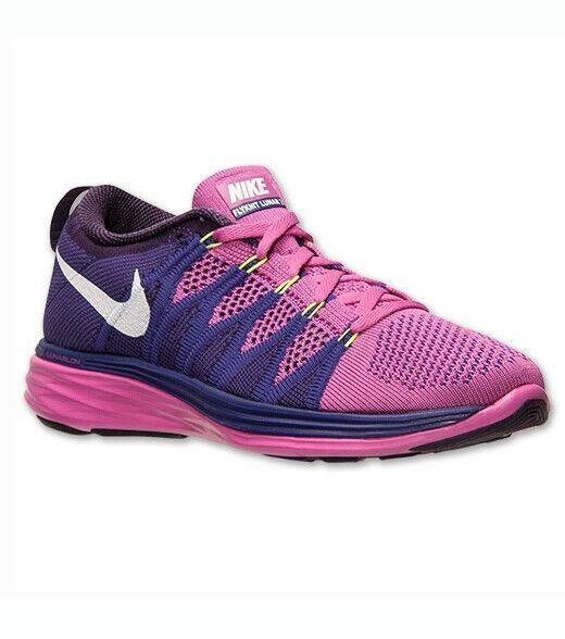 980cc656de052 Nike Flyknit Lunar2 Women s Running Shoe Cross Trainers Purple Pink 620658  601