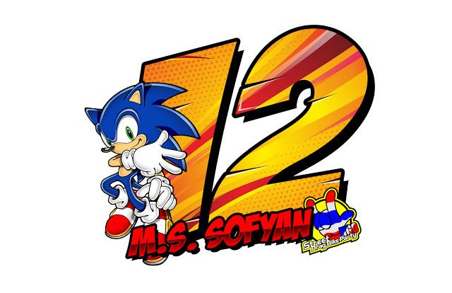 Stiker Sonic Racing by m.s sofyan