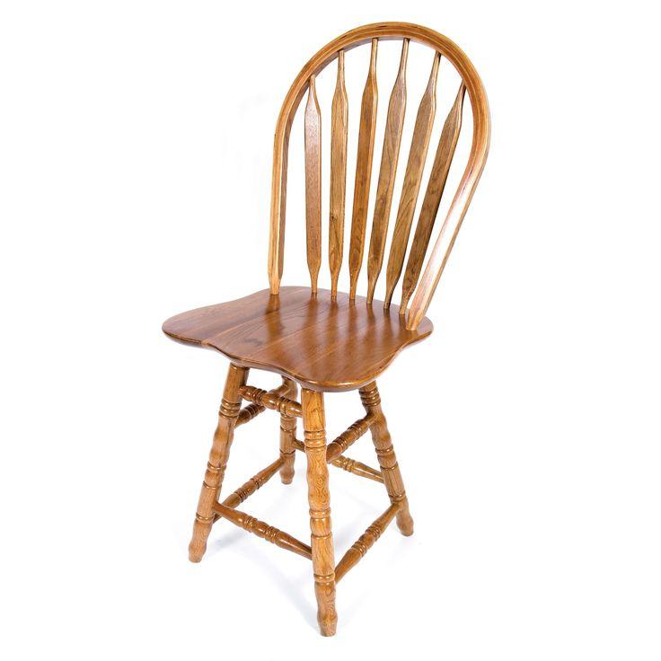 Solid Medium Oak Arrow Back Swivel Turned Counter 24-inch Bar Stool (Medium Oak  sc 1 st  Pinterest & Best 25+ 24 inch bar stools ideas on Pinterest | Hand painted ... islam-shia.org
