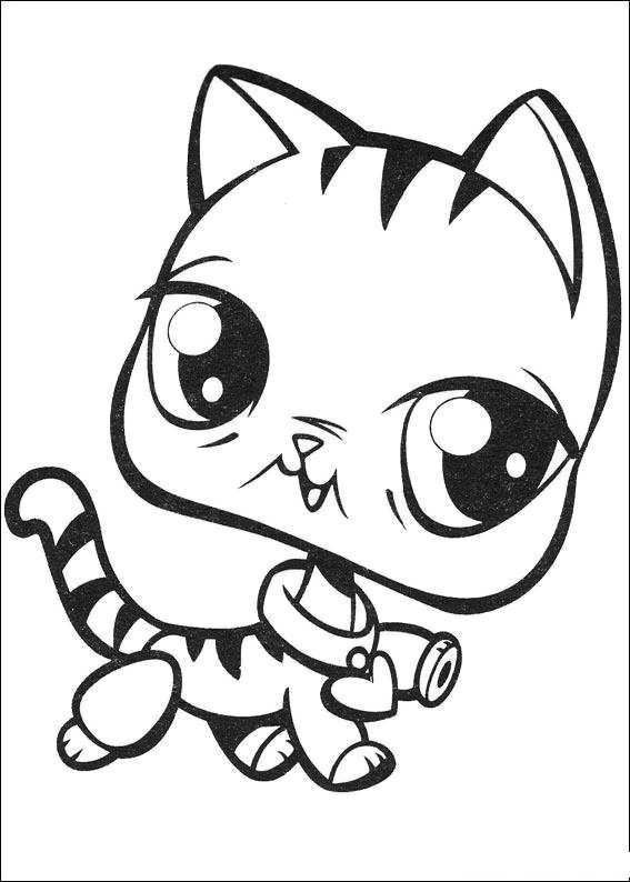 Littlest Pet Shop Coloring Pages Cartoon Coloring Pages Cat Coloring Page Little Pet Shop