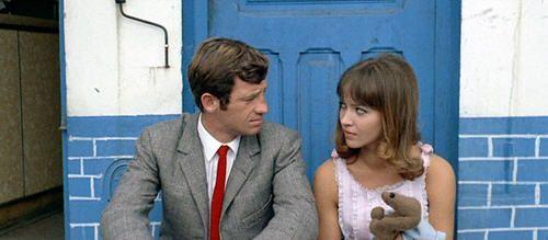 Jean-Paul Belmondo y Anna Karina en Pierrot le fou (1965), Jean Luc Godard