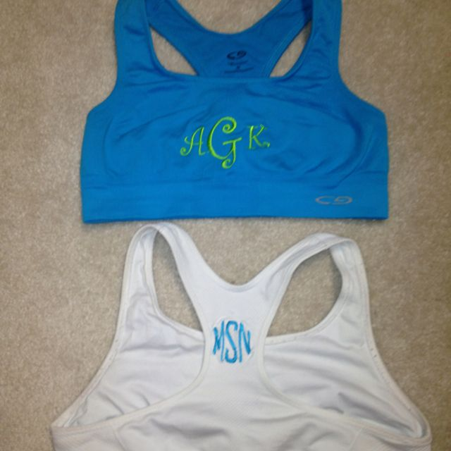 I'm washing my sports bras tonight and taking everything to walmart to get monogrammed tomorrow!