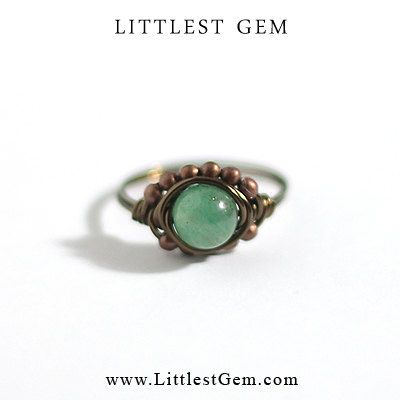 Green Aventurine Boho Ring - unique rings - wire wrapped jewelry handmade - boho ring - custom, clothes, clothing, girl, girls, women, lady, outfit, accessories, jewelry, fashion, bling, gold, clear crystal, bling ring, hipster ring, boho ring, indie ring, hipster jewelry, jewellery, modern jewelry, minimalist, wedding, prom, party, club