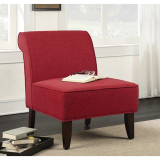 Sadie Slipper Red Accent Chair | Overstock.com Shopping - The Best Deals on Living Room Chairs