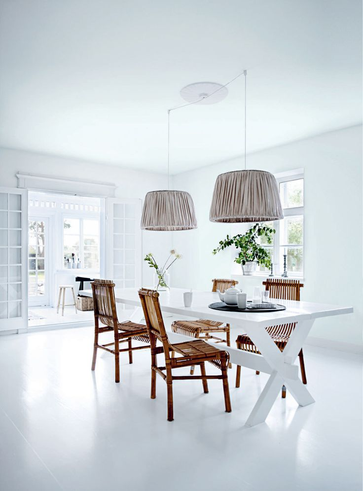 This home belongs to tine kjeldsen owner and designer of homewares brand tine k home it presents itself as country house located on funen island near od