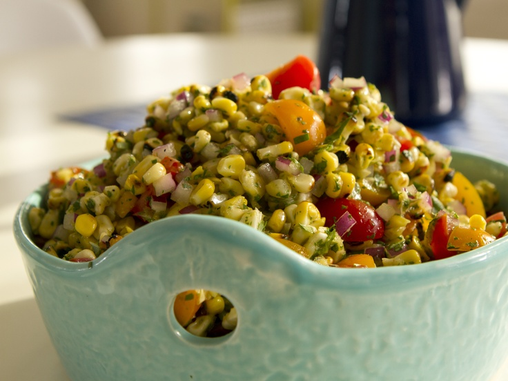 Bread Salad With Corn, Cherry Tomatoes & Basil Recipe — Dishmaps