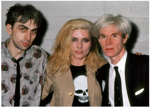 Chris Stein, Debbie Harry and Andy Warhol: Ron Galella