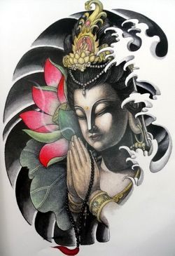 You should never tattoo the buddha, its very disrepectfull!!!!!! To Buddhists it's like tattooing mohammed to muslims! 'Cool Tattoo design'