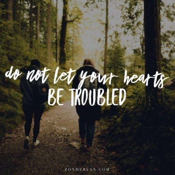 Do not let your hearts be troubled. You believe in God; believe ...