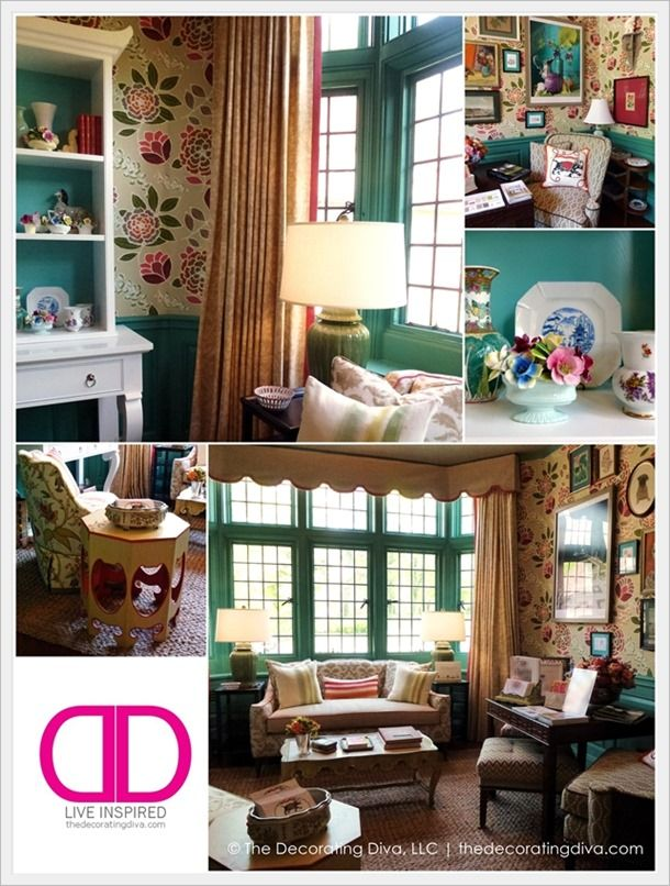 Cheerful, color saturated breakfast room design at Adamsliegh Showhouse by Jason Oliver Nixon and John Locke of Madcap Cottage | The Decorating Diva, LLC: Madcap Cottage, Cottage Inspired, Decorating Diva, Designs Adamsleigh, Cottage Designs, Paint Colors, Room Design