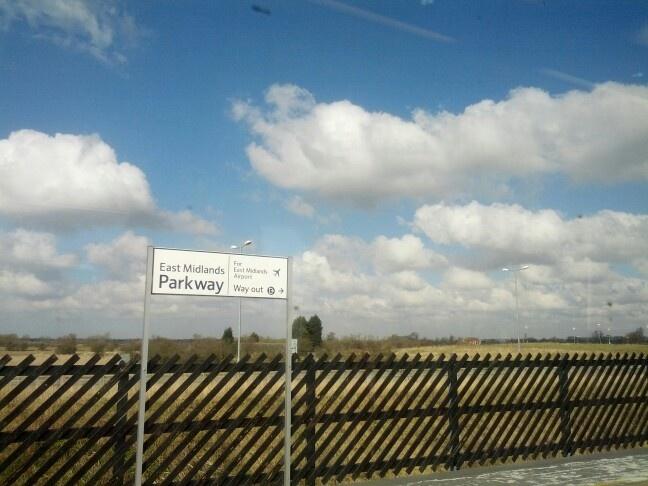 East Midlands train station, UK.