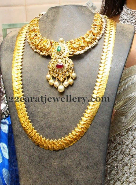 Jewellery Designs: Antique Necklace Kasulaperu