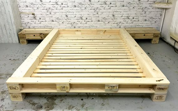 Pallets futon bed 'New York' without headboard by SLLoftart                                                                                                                                                                                 More