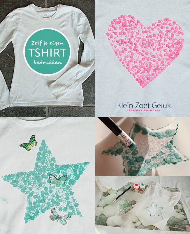 Klein+Zoet+Geluk:+Zelf+je+eigen+t-shirt+bedrukken
