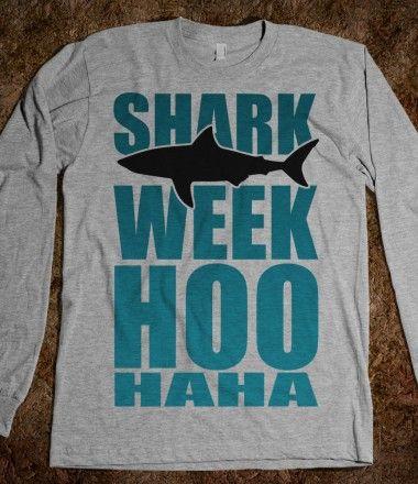 Shark Week Hoo Haha Shirt #sharkweek Dr. Duga, Dr. Feeney  Associates Pediatric Dentistry | #Tampa | #FL | www.pediatricdentisttampa.com