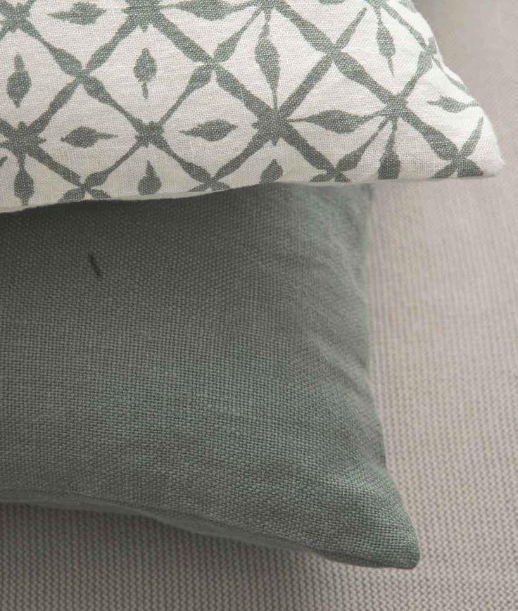 Marc O' Polo Poduszka Timeless Linen Cushion Ocean blue