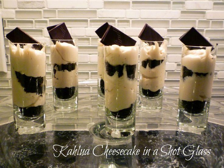 Kahlua Cheesecake in a Shot Glass