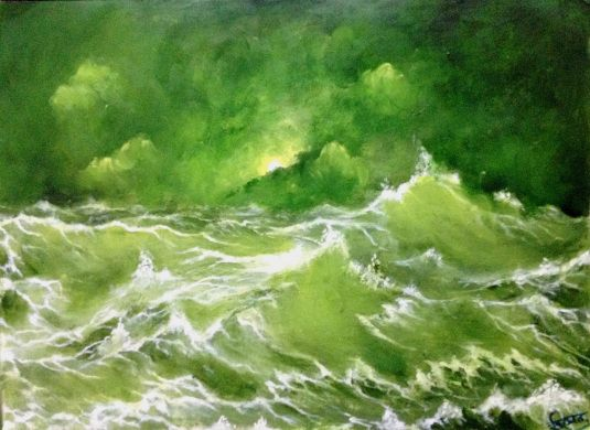 oil painting on paper by rainNsunshine