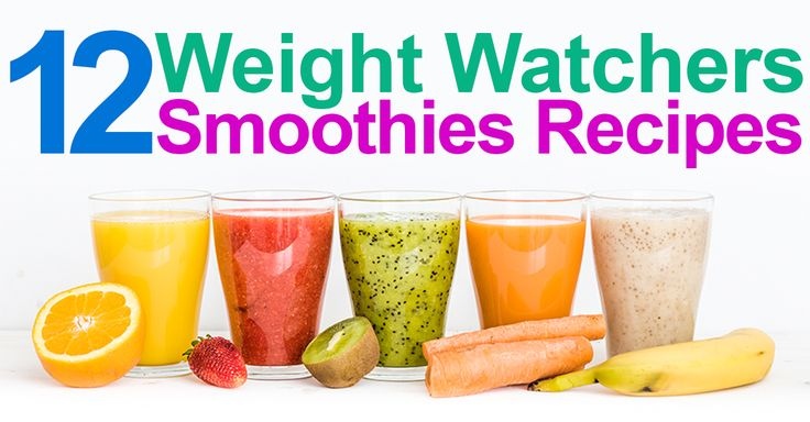 12 Weight Watchers Smoothies Recipes with SmartPoints