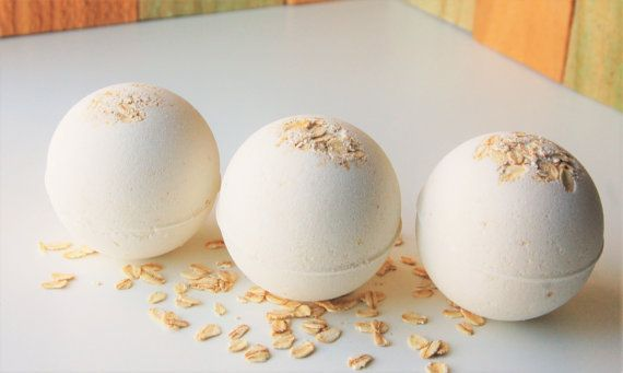 Oatmeal Bath Bomb  Bath Fizzy  Milk Bath  by seasonsoflovegifts
